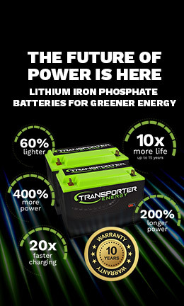 Benefits of Transporter Energy lithium iron batteries