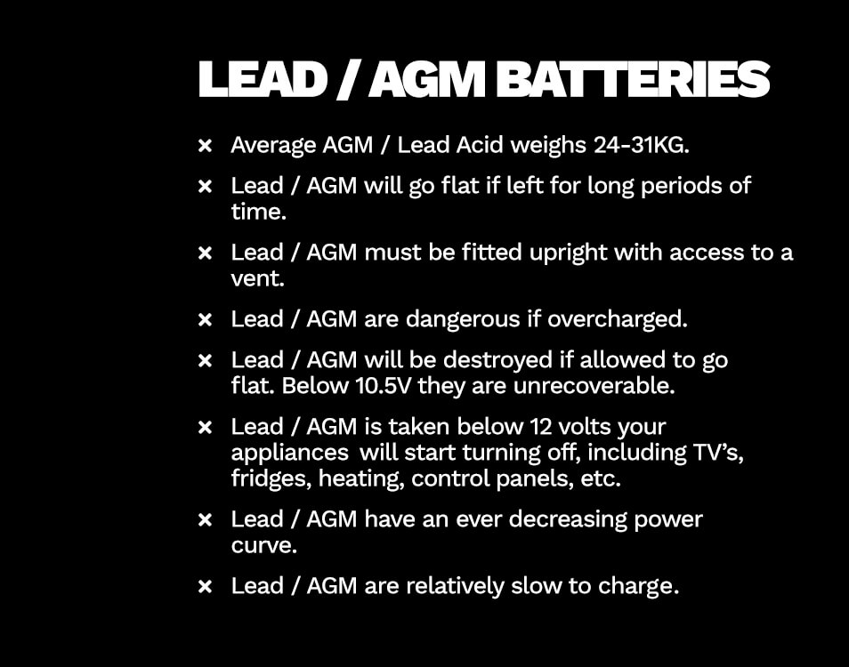 lead agm batteries disadvantages