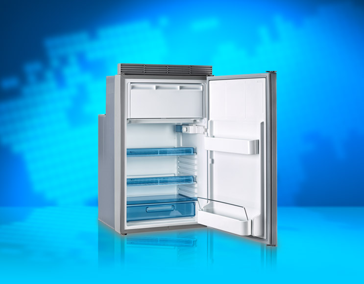 The Dometic Coolmatic MDC refrigerator as included in our Transporter Energy System