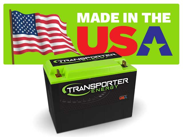 The designed and assembled in USA logo