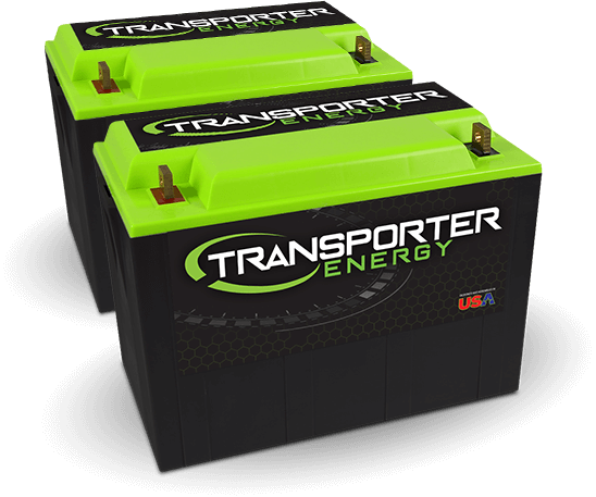 Two of our Transporter Energy lithium-ion batteries